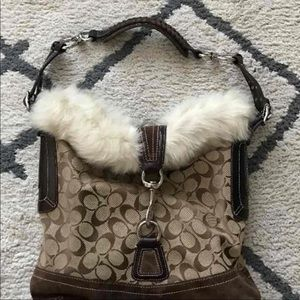 Fur Coach Purse excellent condition